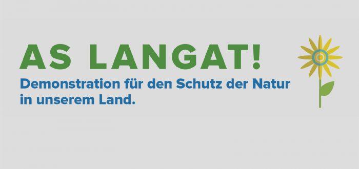 Demonstration für den Schutz der Natur in unserem Land.